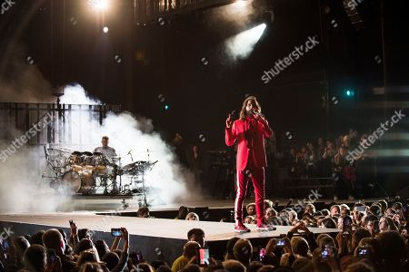 Shannon Leto, Jared Leto. Shannon Leto, left, and Jared Leto of 30 Seconds to Mars perform at the Budweiser Stage, in Toronto, Canada