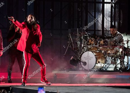 Shannon Leto, Jared Leto. Shannon Leto, right, and Jared Leto of 30 Seconds to Mars perform at the Budweiser Stage, in Toronto, Canada