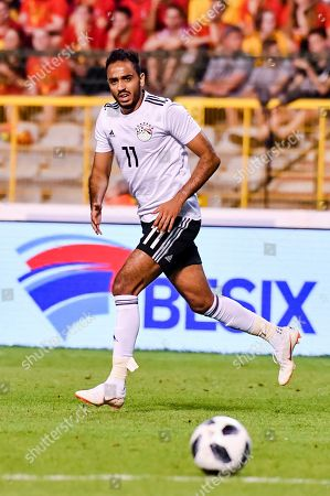 Egypt's Kahraba during a friendly soccer match between Belgium and Egypt at the King Baudouin stadium in Brussels