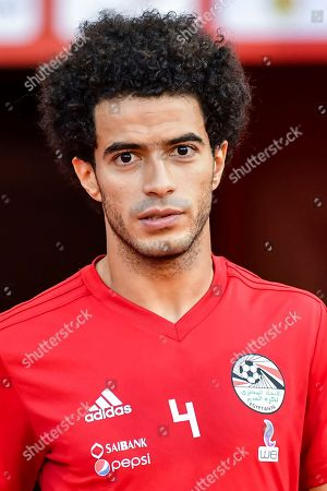 Stock Picture of Egypt's Omar Gaber during a friendly soccer match between Belgium and Egypt at the King Baudouin stadium in Brussels