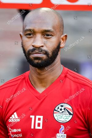 Egypt's Shikabala during a friendly soccer match between Belgium and Egypt at the King Baudouin stadium in Brussels