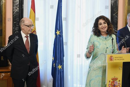 Editorial picture of Traditional ceremony of transfer of powers to new ministers, Madrid, Spain - 07 Jun 2018