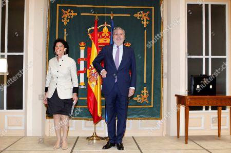 Stock Picture of Isabel Celaa and Inigo Mendez de Vigo