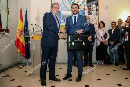 Stock Picture of Maxim Huerta and Inigo Mendez de Vigo
