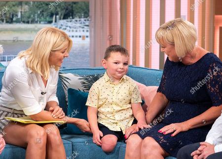 Holly Willoughby with Paula Hudgell, Tony Smith