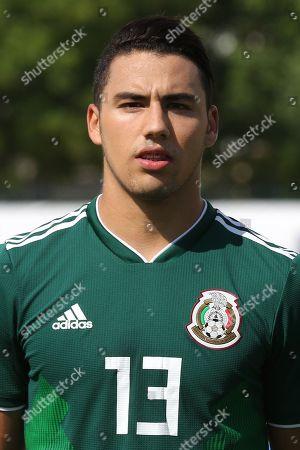 Stock Photo of Jorge Eduardo Sanchez Ramos of Mexico U21's during Mexico Under-21 vs Turkey Under-21, Tournoi Maurice Revello Football at Stade de Lattre-de-Tassigny on 6th June 2018