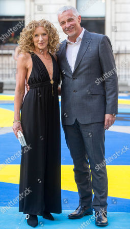 Kelly Hoppen and John Gardiner arrive at the Royal Academy for the Exhibition Preview Party