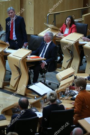 Scottish Parliament First Minister's Questions - Richard Leonard, Leader of the Scottish Labour Party, James Kelly and Kezia Dugdale
