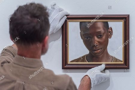 Stock Photo of 'A Portrait of Gifty from Shitima' by Huey Glynn-Jones is a portrait of a young boy the artist met while volunteering at a school in Zambia.
