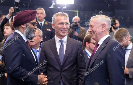 Harjit Singh Sajjan, Jens Stoltenberg and Jim Mattis