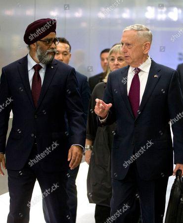 James Mattis and Harjit Singh Sajjan