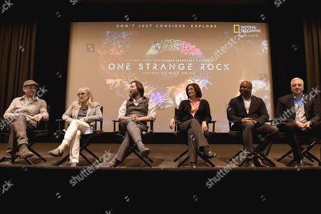 Darren Aronofsky, Jane Root, Ari Handel, Nicole Stott, Leland Melvin, Mike Massimino