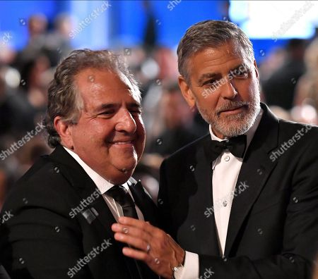 Stock Photo of Jim Gianopulos and George Clooney