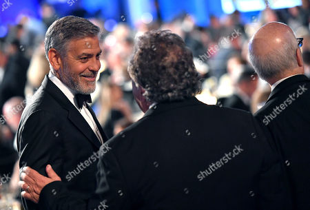 Stock Picture of Jim Gianopulos and George Clooney