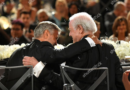 Stock Photo of George Clooney and Nick Clooney