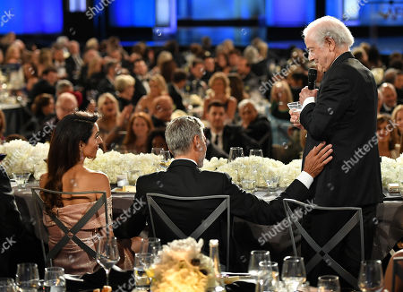 Amal Clooney, George Clooney and Nick Clooney
