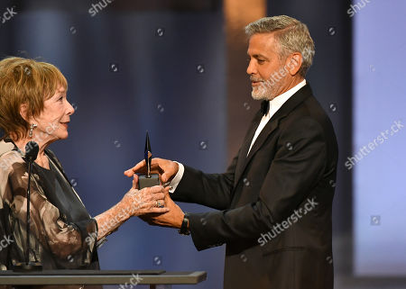 Shirley MacLaine and George Clooney