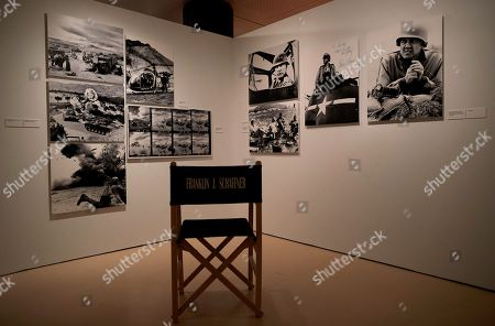 A view of the exhibition 'Cerca de Hollywood' (lit.: Near Hollywood) in Barcelona, Spain, 07 June 2018. The exhibition presents the work of the Spanish photographers and brothers Claudi and Frederic Gomez Grau and features photographs from the filming of American blockbusters in Spain and actors like Charlton Heston, Sophia Loren, Georges C. Scott or Richard Harris.