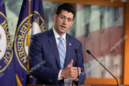 Editorial image of Speaker of the United States House of Representatives Paul Ryan press conference, Washington DC, USA - 07 Jun 2018