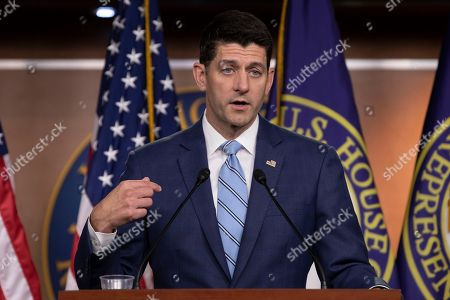 Editorial picture of Speaker of the United States House of Representatives Paul Ryan press conference, Washington DC, USA - 07 Jun 2018