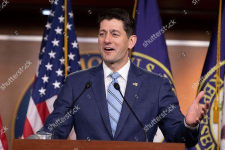 Editorial photo of Speaker of the United States House of Representatives Paul Ryan press conference, Washington DC, USA - 07 Jun 2018