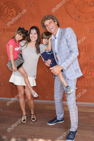 Gustavo Kuerten with his wife Mariana, their daughter Maria-Augusta and their son Luiz Felipe