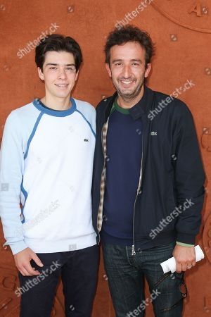 Cyrille Eldin (R.) and his son Camille