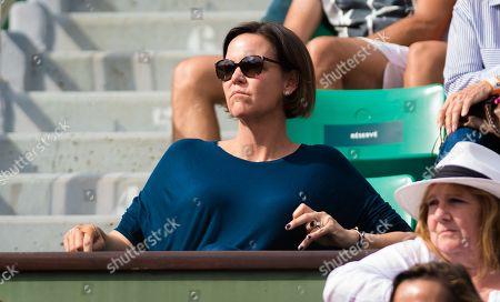 Lindsay Davenport during the semi-final of the 2018 Roland Garros Grand Slam tennis tournament