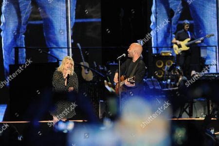 Emma Marrone and Giuliano Sangiorgi
