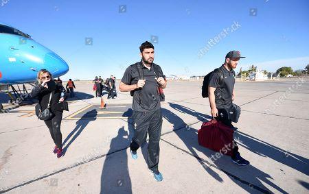 Cory Hill and Rhodri Jones arrives in San Juan.