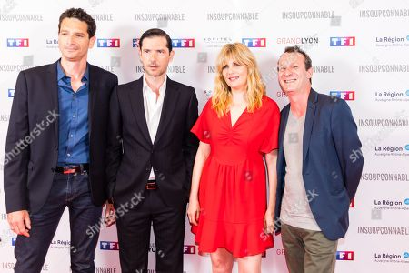 Stock Picture of Frederic Garson, Melvil Poupaud, Emmanuelle Seigner and Christophe Lamotte