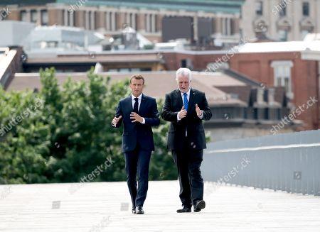 Emmanuel Macron and Philippe Couillard