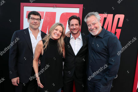 Stock Picture of Richard Brener, President and Chief Creative Officer, New Line Cinema, Carolyn Blackwood, President and Chief Content Officer, New Line Cinema, Jeff Tomsic, Director, Todd Garner, Producer,