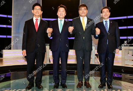 Editorial photo of Seoul mayoral TV debate, Korea - 07 Jun 2018