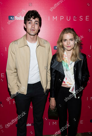"""Jonah Hauer-King, Willa Fitzgerald. Jonah Hauer-King and Willa Fitzgerald attend a screening of """"Impulse"""", hosted by YouTube, at the Roxy Cinema, in New York"""