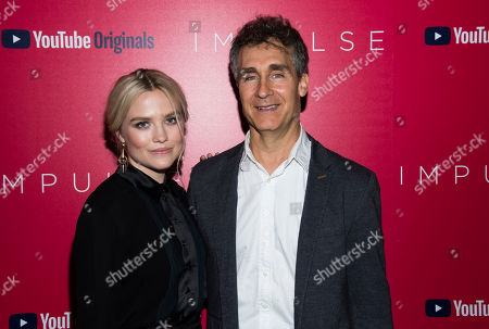 """Stock Picture of Maddie Hasson, Doug Liman. Maddie Hasson and Doug Liman attend a screening of """"Impulse"""", hosted by YouTube, at the Roxy Cinema, in New York"""