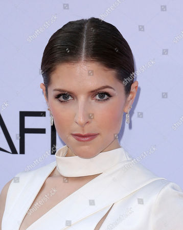 Anna Kendrick arrives at the 46th AFI Life Achievement Award Honoring George Clooney at the Dolby Theatre, in Los Angeles