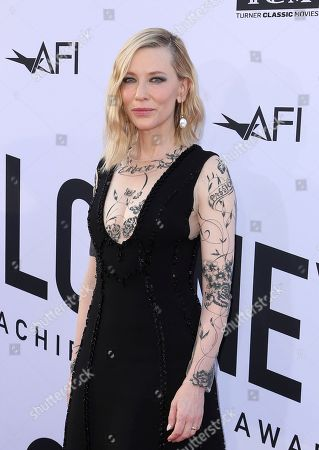 Cate Blanchett arrives at the 46th AFI Life Achievement Award Honoring George Clooney at the Dolby Theatre, in Los Angeles