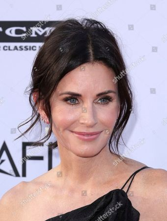 Courteney Cox arrives at the 46th AFI Life Achievement Award Honoring George Clooney at the Dolby Theatre, in Los Angeles