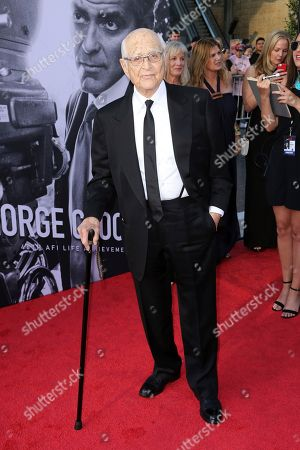 Norman Lear arrives at the 46th AFI Life Achievement Award Honoring George Clooney at the Dolby Theatre, in Los Angeles