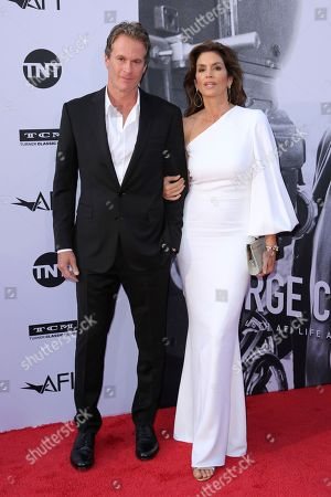 Cindy Crawford, Rande Gerber. Cindy Crawford, left, and Rande Gerber arrive at the 46th AFI Life Achievement Award Honoring George Clooney at the Dolby Theatre, in Los Angeles