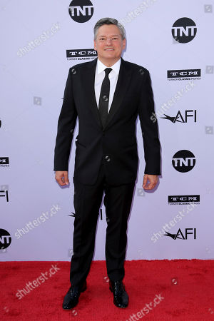 Ted Sarandos arrives at the 46th AFI Life Achievement Award Honoring George Clooney at the Dolby Theatre, in Los Angeles
