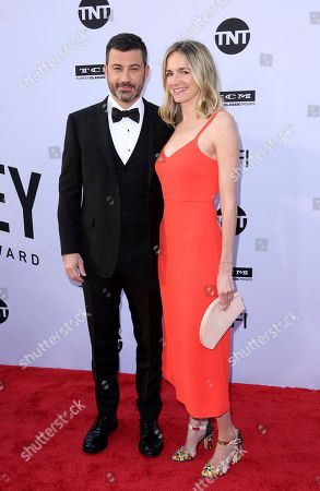Jimmy Kimmel, Molly McNearney. Jimmy Kimmel, left, and Molly McNearney arrive at the 46th AFI Life Achievement Award Honoring George Clooney at the Dolby Theatre, in Los Angeles