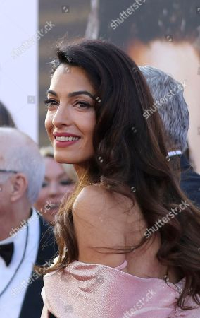 Stock Picture of Amal Clooney arrives at the 46th AFI Life Achievement Award Honoring George Clooney at the Dolby Theatre, in Los Angeles