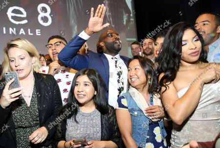 """Stock Image of Toby Onwumere joins fans during Linda Perry's performance at the screening of Netflix Original Series """"Sense8"""" Finale at the ArcLight Hollywood, in Los Angeles"""