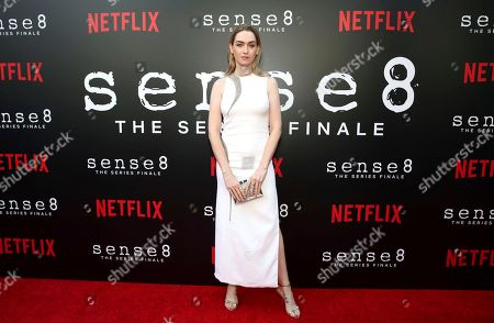 """Jamie Clayton seen at the screening of Netflix Original Series """"Sense8"""" Finale at the ArcLight Hollywood, in Los Angeles"""