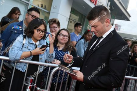 """Stock Image of Brian J. Smith seen at the screening of Netflix Original Series """"Sense8"""" Finale at the ArcLight Hollywood, in Los Angeles"""