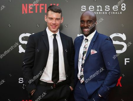 """Brian J. Smith, Toby Onwumere. Brian J. Smith and Toby Onwumere seen at the screening of Netflix Original Series """"Sense8"""" Finale at the ArcLight Hollywood, in Los Angeles"""