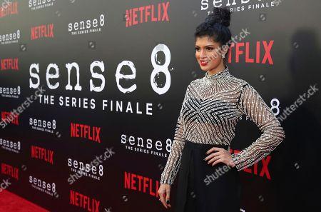 "Tina Desai seen at the screening of Netflix Original Series ""Sense8"" Finale at the ArcLight Hollywood, in Los Angeles"