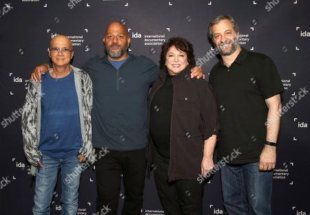 Stock Image of Jimmy Iovine, Allen Hughes, Susan Lacy and Judd Apatow